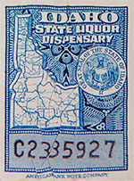 Distilled Spirit Sampling Bill Stamp